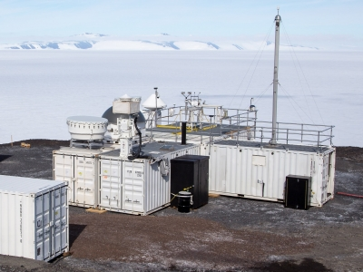 From McMurdo, the second ARM Mobile Facility gathers sophisticated data with cloud radars and high spectral resolution lidar, and a complete aerosol suite.