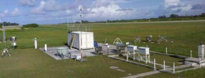 Initial installation at the main site on the Gan airport grounds.