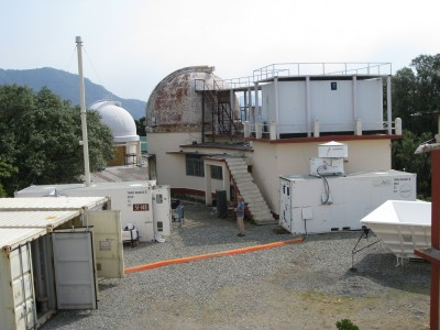 In early June, installation of the ARM Mobile Facility instrument suite is underway at the ARIES Observatory in Nainital, India.