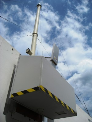 ARM Mobile Facility instrumentation is installed in June 2011 at the ARIES Observatory in Nainital, India, for the Ganges Valley Aerosol Experiment (GVAX). Shown in this photo are the stack for the aerosol observing system (top) and the optics portal for the atmospheric emitted radiance interferometer.