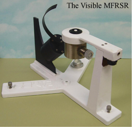 Picture of the Multi-Filter Rotating Shadowband Radiometer (MFRSR)