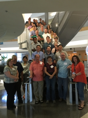 Retiring long-time ARM Archive Manager Raymond McCord (front row, fourth from left) captured at the 2015 Data Developers Meeting.
