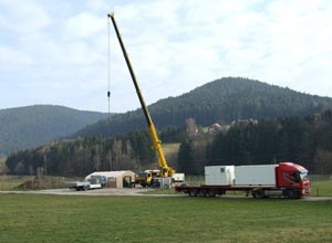 The AMF1 sets up in Heselbach, Germany