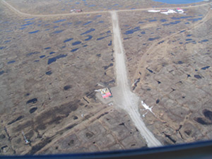 Aerial view of the Atqasuk site