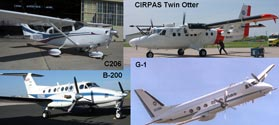 Numerous instrumented aircraft participated in CLASIC, a cross-disciplinary interagency research effort.