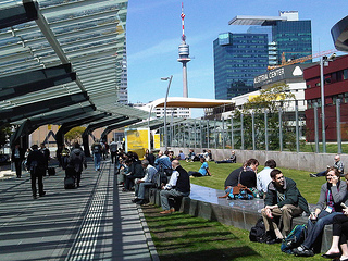 With over 11,000 scientists attending EGU's General Assembly, the Austria Center Vienna provided modern facilities and many amenities for taking breaks during the busy week.