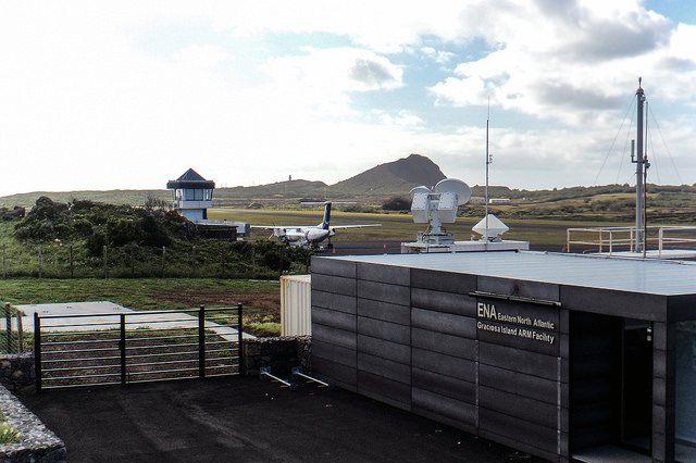 Situated near the airport on Graciosa Island, the newest ARM facility operates 24/7 to collect climate data.