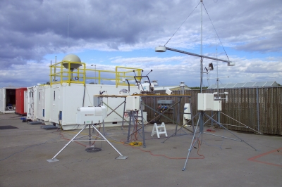 Set up at the Pacific Northwest National Laboratory, the first ARM Mobile Facility prepares for its first deployment to Point Reyes, California.