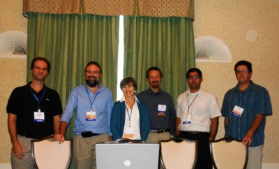 Millimeter Wavelength Radar Short Course Team (left to right): Pavlos Kollias, Ed Luke, Karen Johnson, Simone Tanelli, Nitin Bharadwaj, and David Leon.