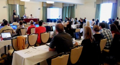 A capacity crowd listens attentively as the ARM radar short course begins.