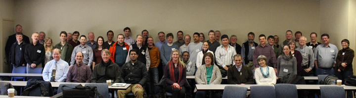 A critical mass of ARM Facility colleagues gather for a rare group photo in March 2014.