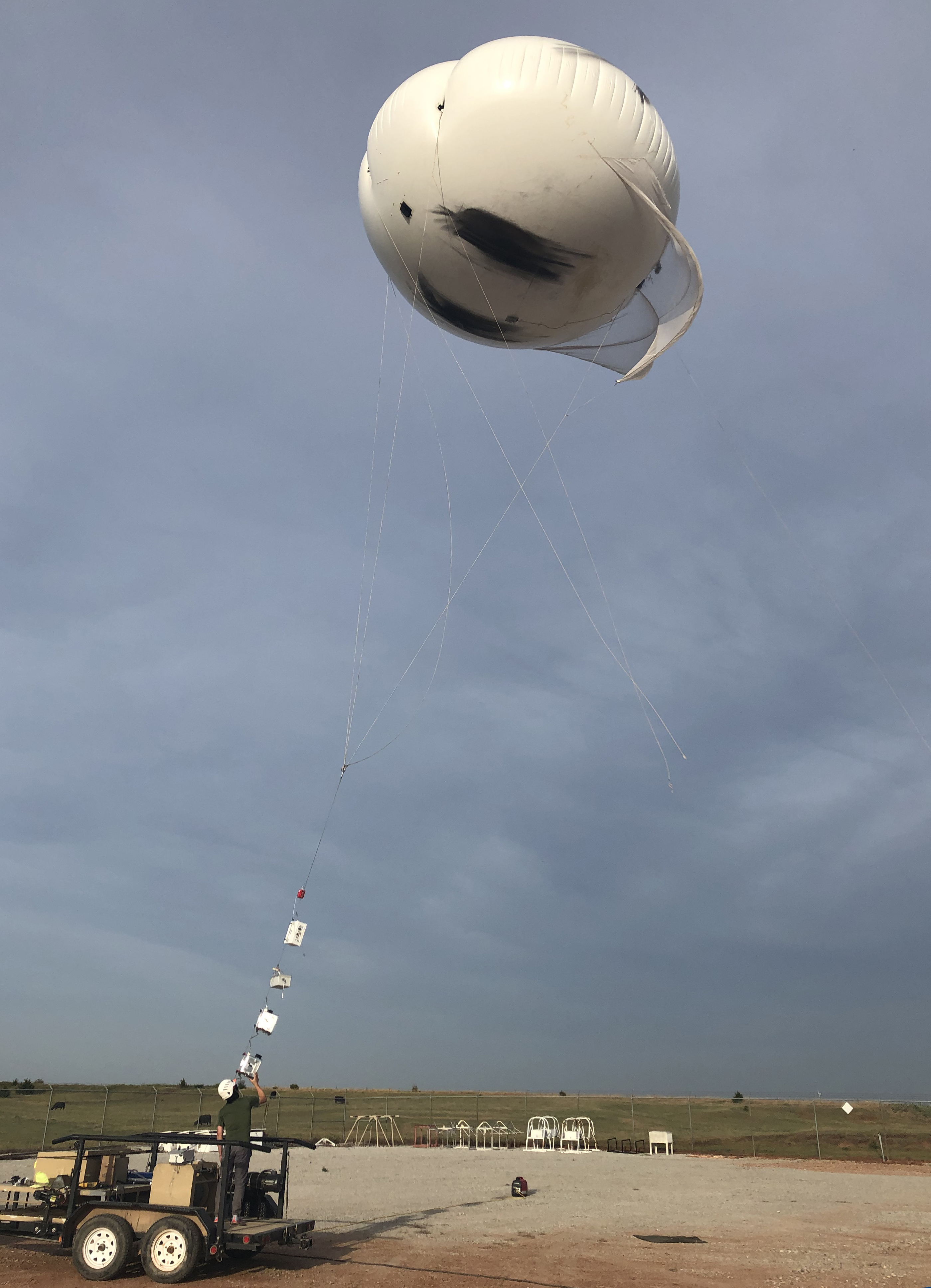 Tethered balloon system at Southern Great Plains observatory