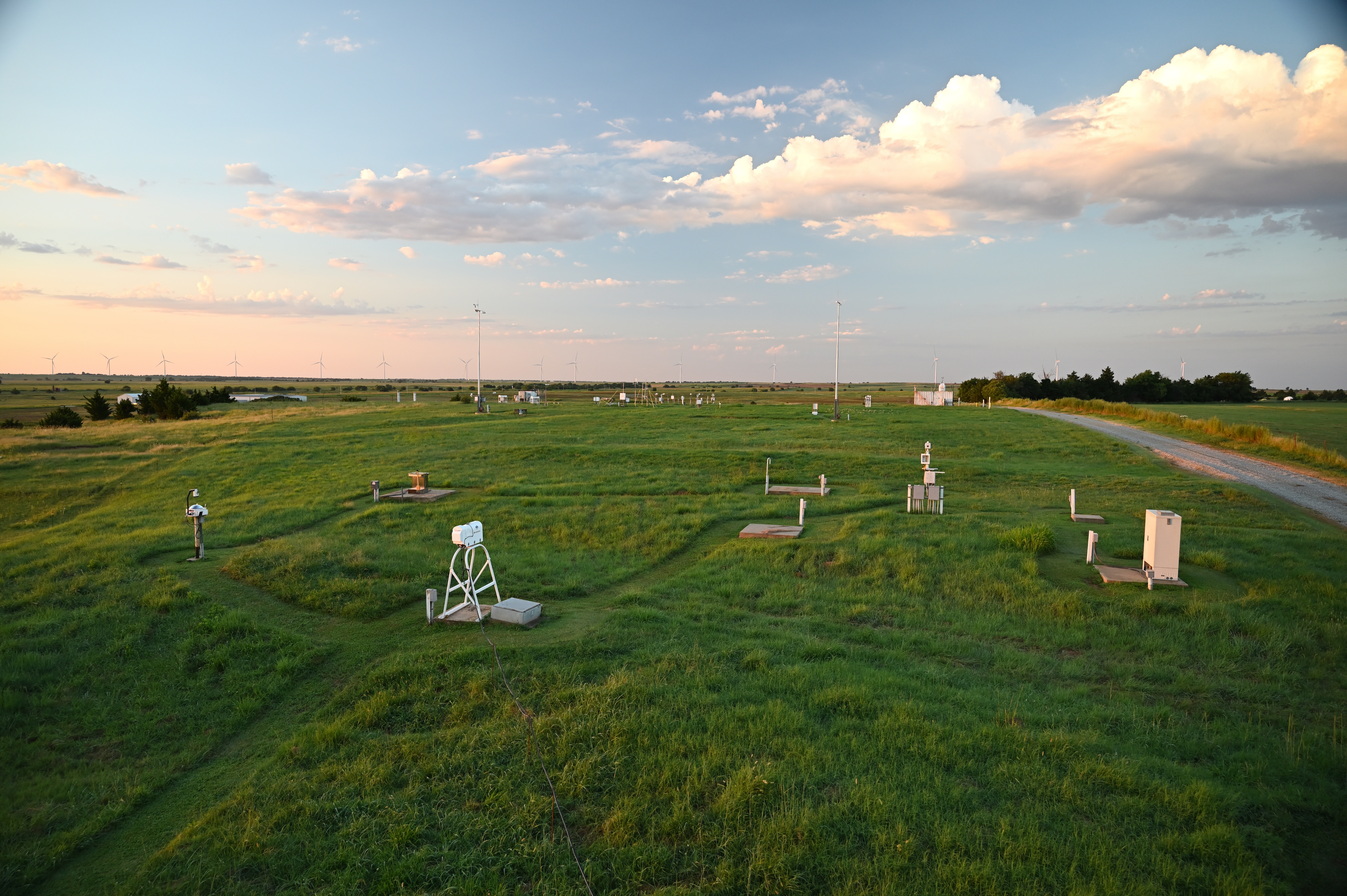Radiometer field at ARM's Southern Great Plains atmospheric observatory