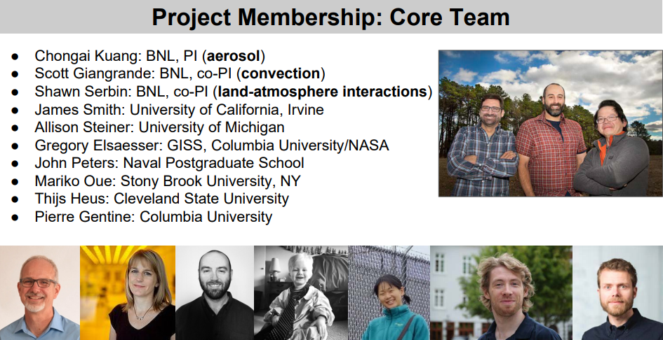 Core members of AMF3 site science team