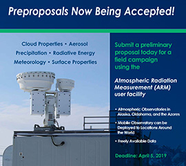 Request for Preproposals for Use of the U.S. Department of Energy's ARM User Facility