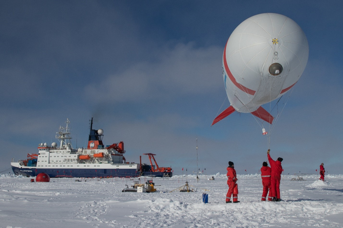 Polarstern research icebreaker on a mission