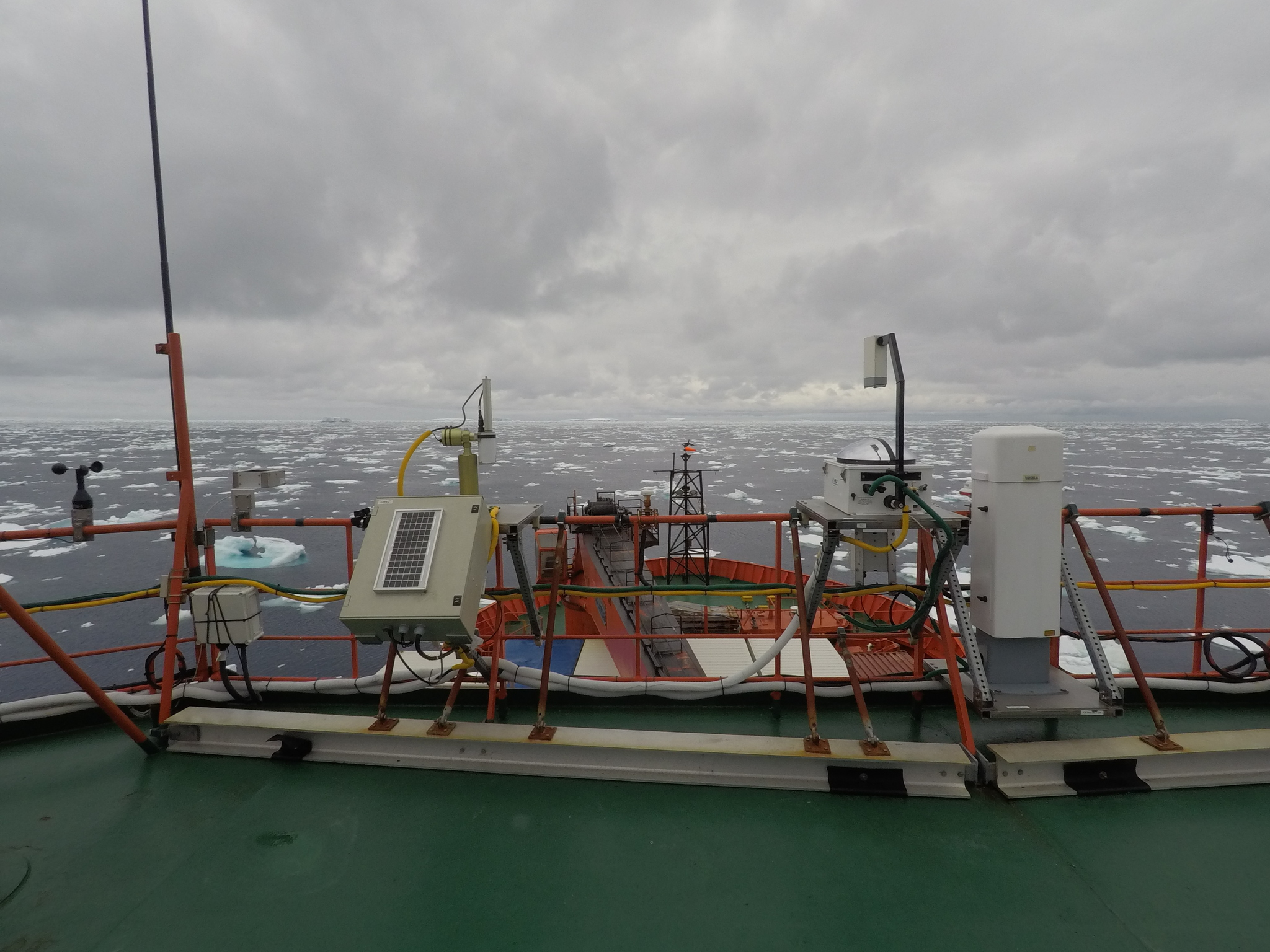 Instruments aboard Australian Antarctic supply vessel during MARCUS campaign