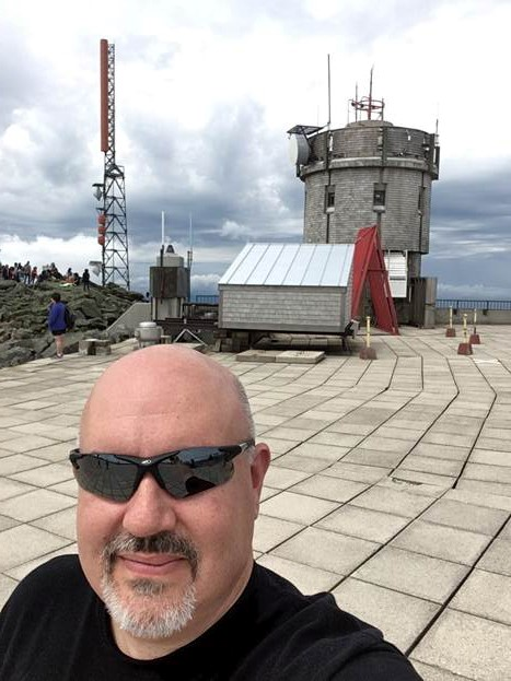 David Mechem at Mount Washington in New Hampshire