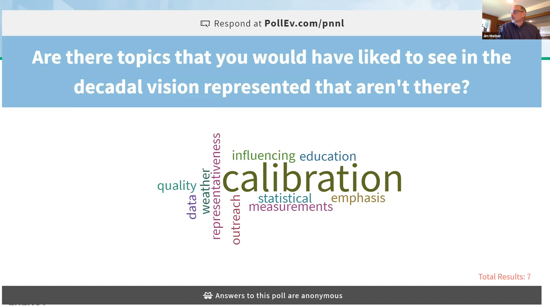 Real-time poll results during ARM/ASR joint meeting