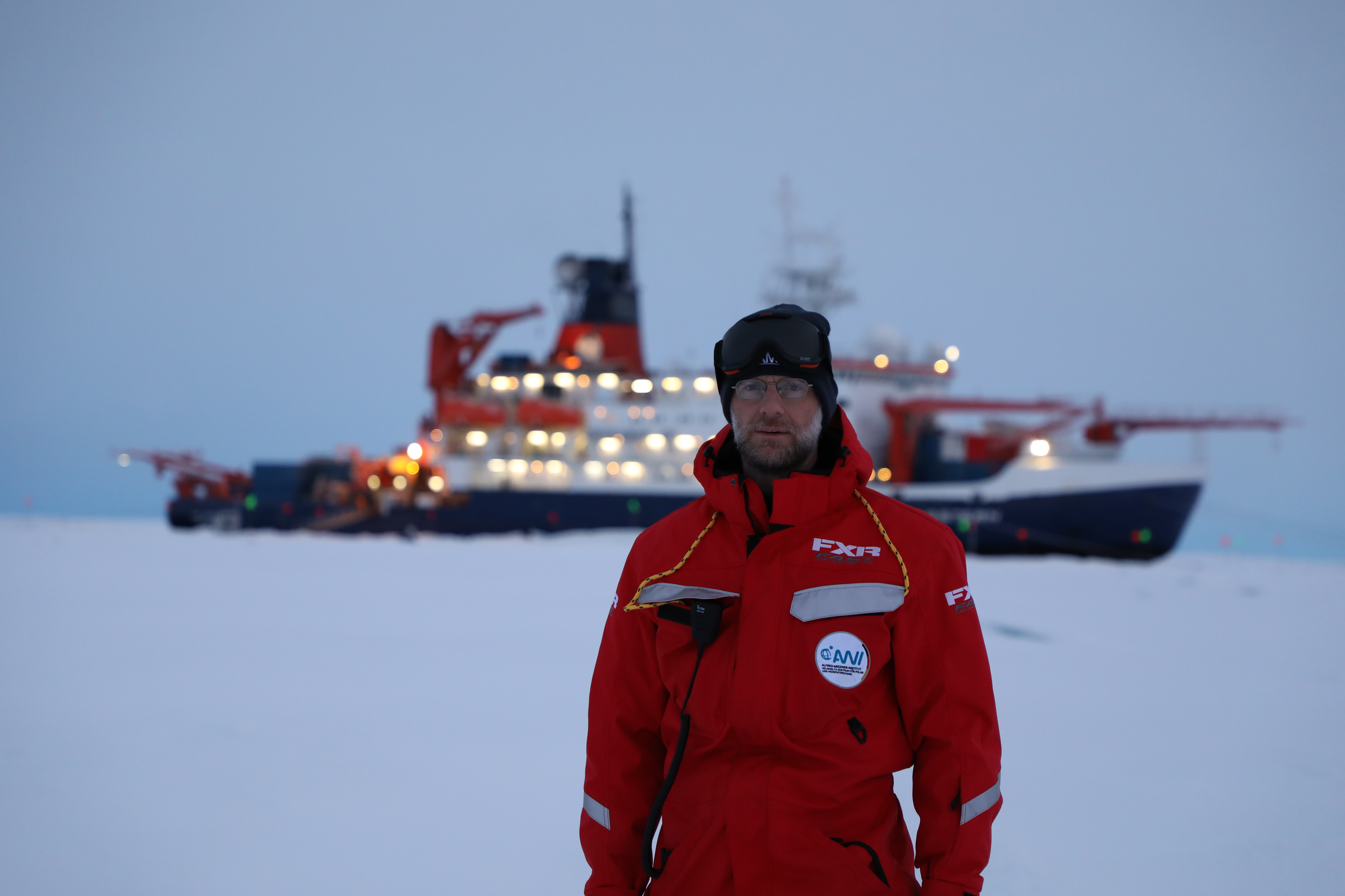 Matthew Shupe during the MOSAiC expedition in the Arctic