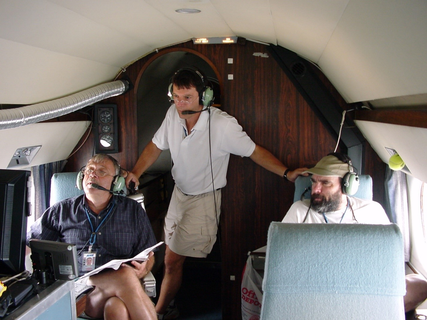 Stephen Springston, Peter Daum, and John Hubbe aboard G-1 aircraft