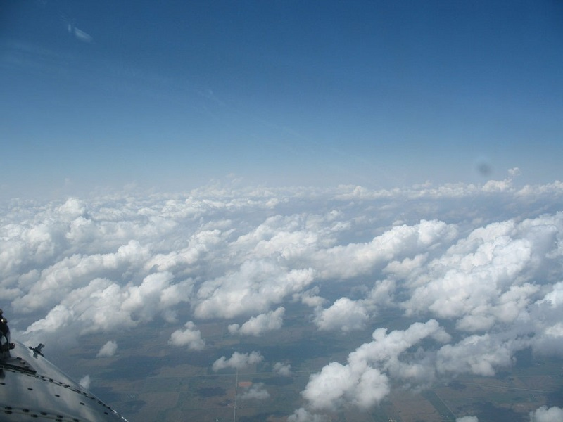 Clouds as seen as aircraft